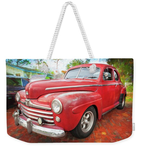 1947 Ford Super Deluxe Coupe 001 Weekender Tote Bag