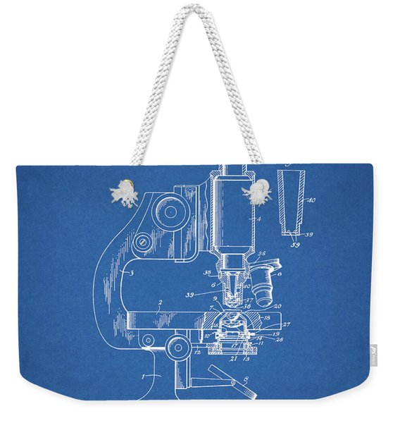 1947 Microscope Patent  Weekender Tote Bag