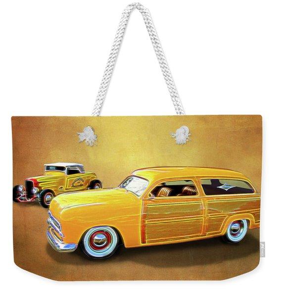 1949 Woody And 1932 Roadster Weekender Tote Bag
