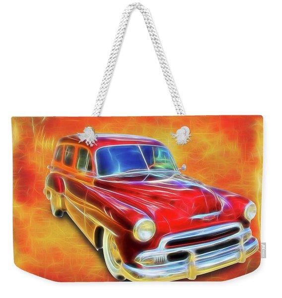 1951 Chevy Woody Weekender Tote Bag
