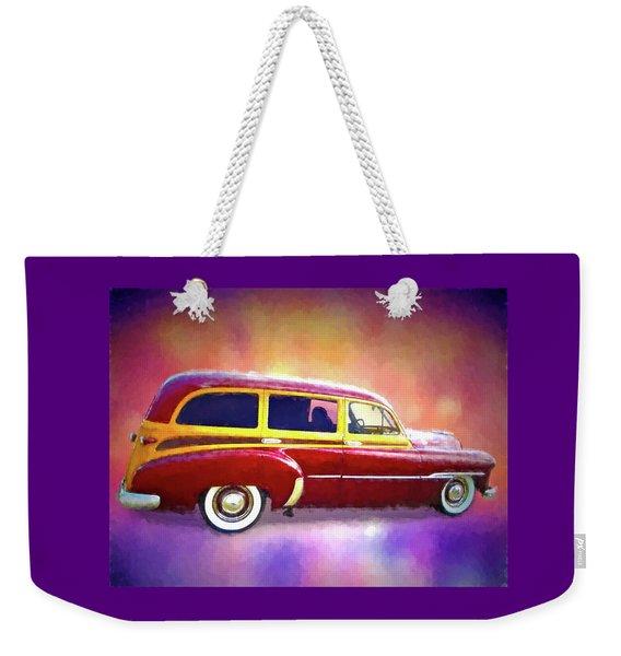 1951 Chevy Woody Sideview Weekender Tote Bag