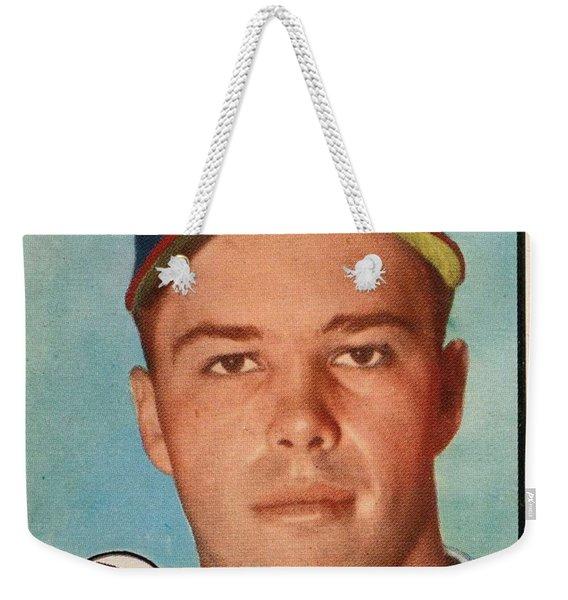 1952 Topps Ed Mathews Weekender Tote Bag