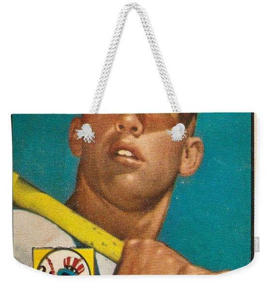 1952 Topps Mickey Mantle Weekender Tote Bag
