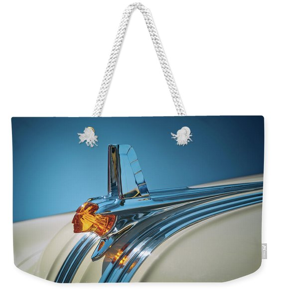1953 Pontiac Hood Ornament Weekender Tote Bag