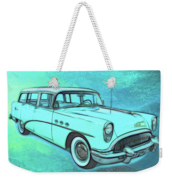 1954 Buick Wagon Weekender Tote Bag