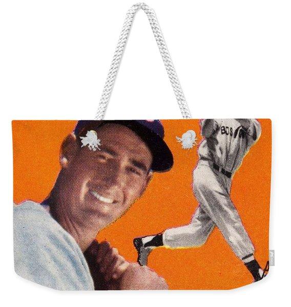 1954 Topps Ted Williams Weekender Tote Bag