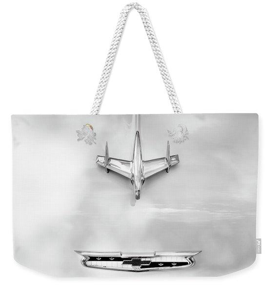 1955 Chevrolet Bel Air A017 Weekender Tote Bag