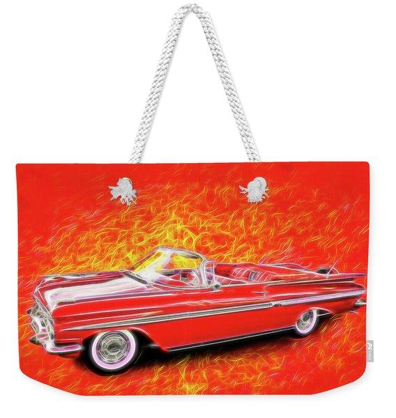 1959 Chevy Convertable Weekender Tote Bag