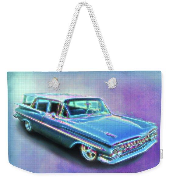 1959 Chevy Wagon Weekender Tote Bag