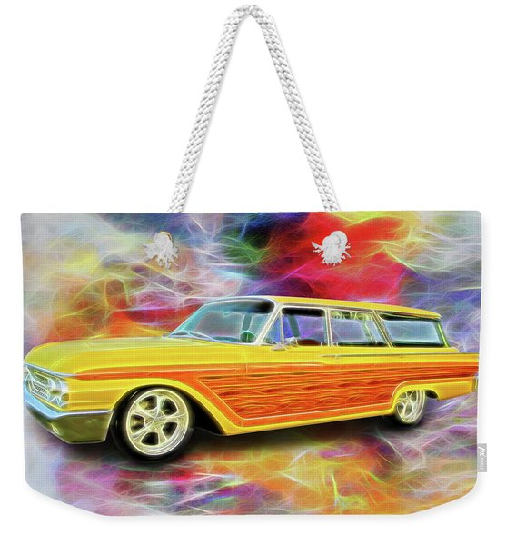 1961 Ford Wagon Weekender Tote Bag