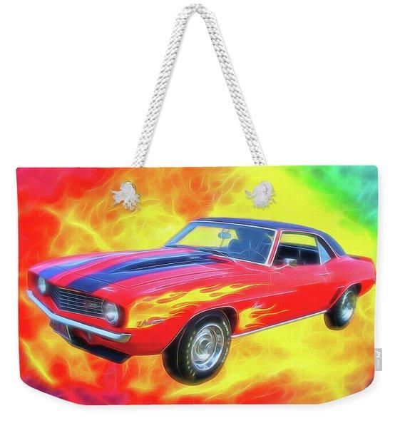1969 Flaming Z Weekender Tote Bag