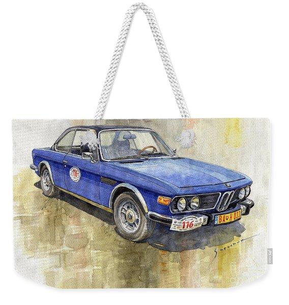 1972 Bmw 3.0 Csi Coupe  Weekender Tote Bag
