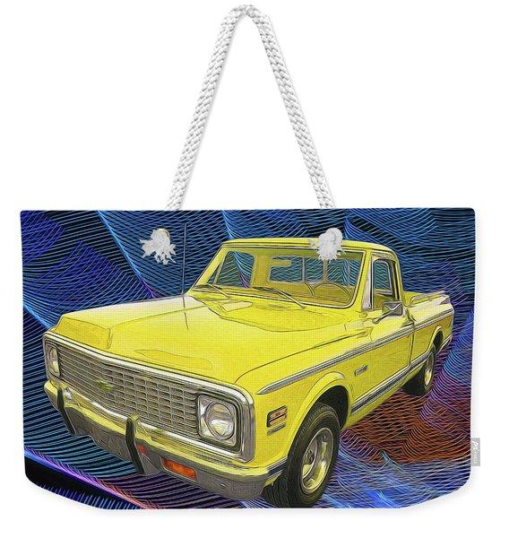1972 Chevy Pickup Truck Weekender Tote Bag