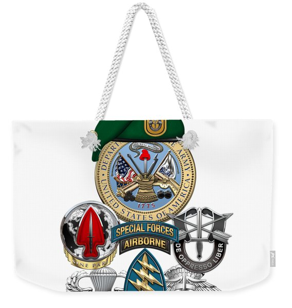 1st Special Forces Group - Green Berets Special Edition Weekender Tote Bag