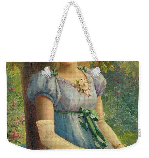 A Sweet Glance, 19th Century Weekender Tote Bag