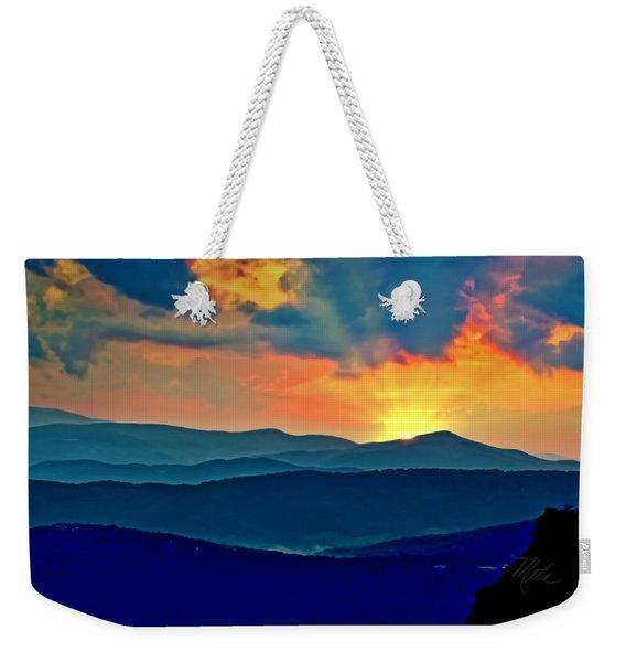 Blue Ridge Mountains Sunset Weekender Tote Bag