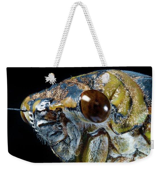Closeup Macro Cicada Locust Weekender Tote Bag