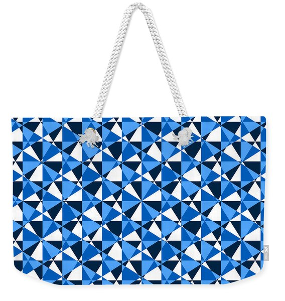 Crazy Psychedelic Art In Chaotic Visual Color And Shapes - Efg22 Weekender Tote Bag