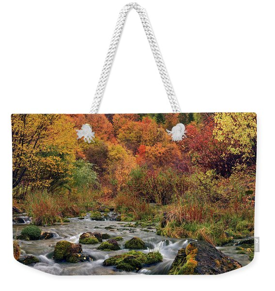 Cub River Autumn Weekender Tote Bag