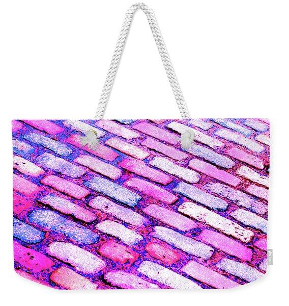 Diagonal Street Cobbles Weekender Tote Bag