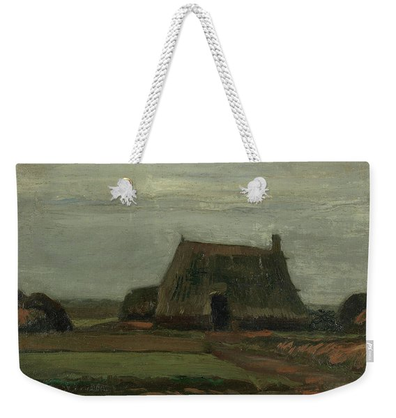 Farm With Stacks Of Peat Weekender Tote Bag