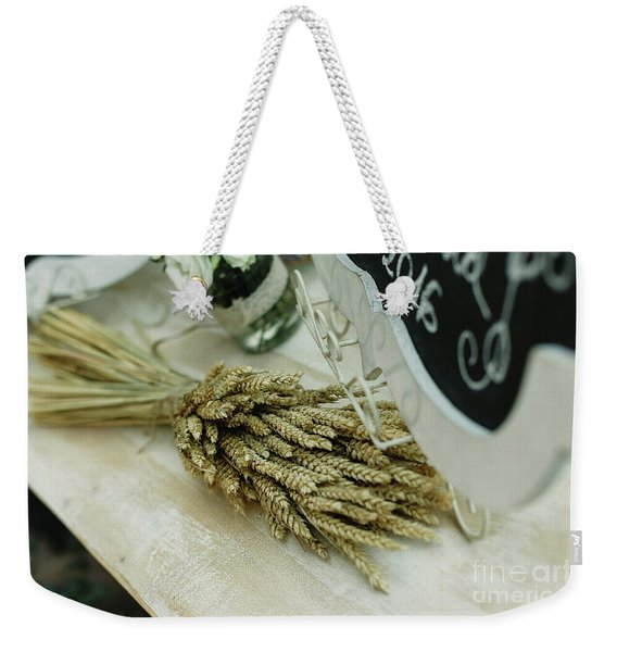 Floral Decorations In The Spaces Of A Wedding Restaurant. Weekender Tote Bag