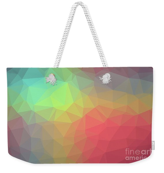 Gradient Background With Mosaic Shape Of Triangular And Square C Weekender Tote Bag