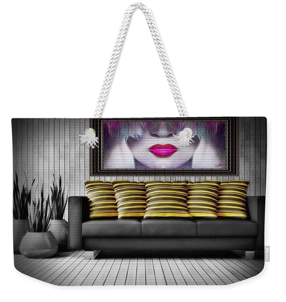 Lady Fashion Beauty Weekender Tote Bag