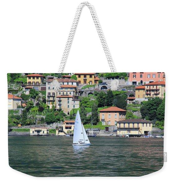 Lake Como Italy Weekender Tote Bag