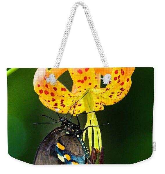 Swallowtail On Turks Cap Weekender Tote Bag
