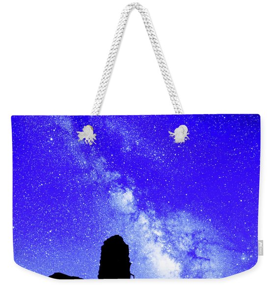 The Milky Way Over The Crest House Weekender Tote Bag