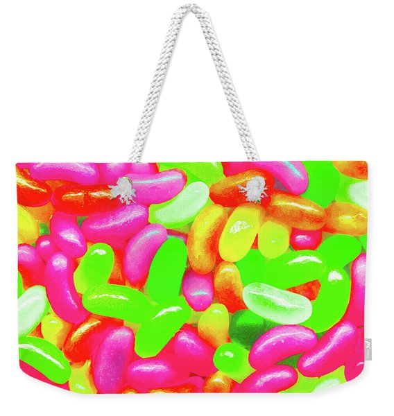 Vibrant Jelly Beans Weekender Tote Bag
