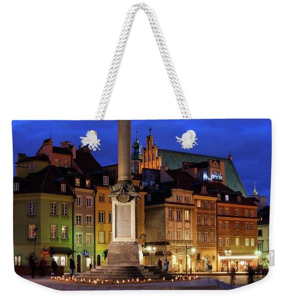 Warsaw By Night Weekender Tote Bag