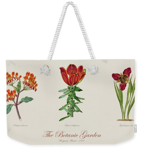 19th Century Botanical Illustrations Of Flowers From The Botanic Garden By Benjamin Maund Weekender Tote Bag