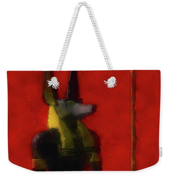 Anubis, God Of Egypt Weekender Tote Bag