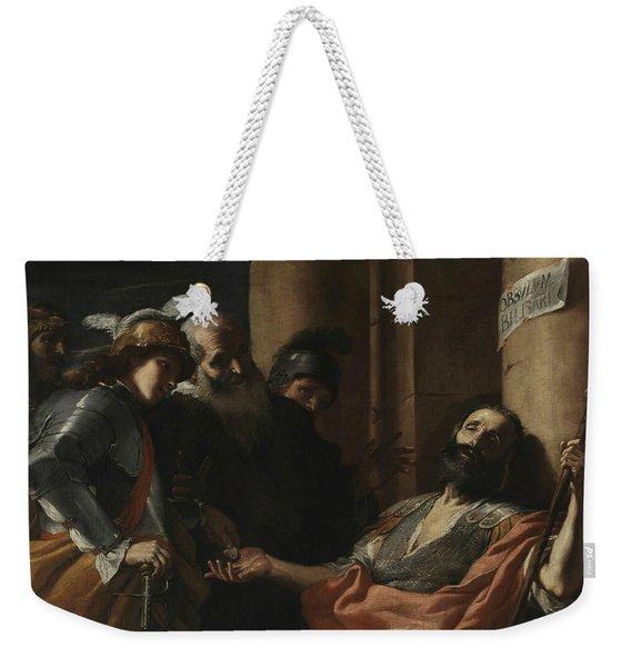 Belisarius Receiving Alms Weekender Tote Bag