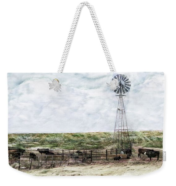 Weekender Tote Bag featuring the digital art Classic Cattle II by Don Northup