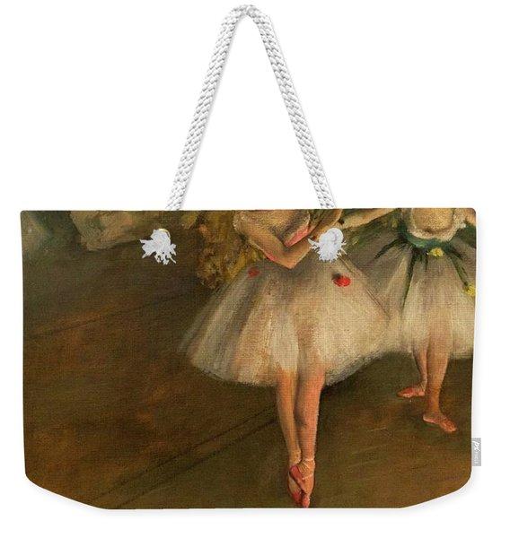 Two Dancers On A Stage Weekender Tote Bag