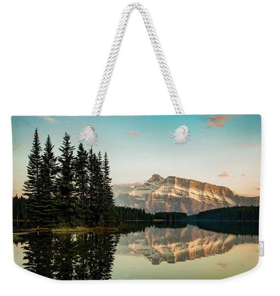 Two Jack Lake And Mount Rundle Weekender Tote Bag