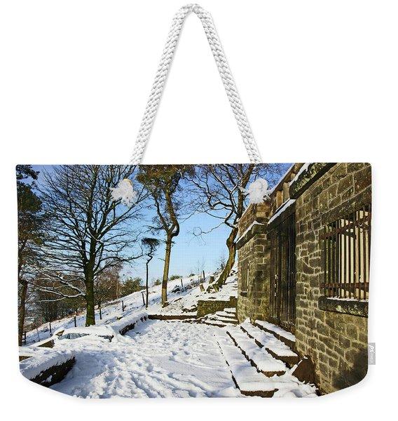 30/01/19  Rivington. Summerhouse In The Snow. Weekender Tote Bag