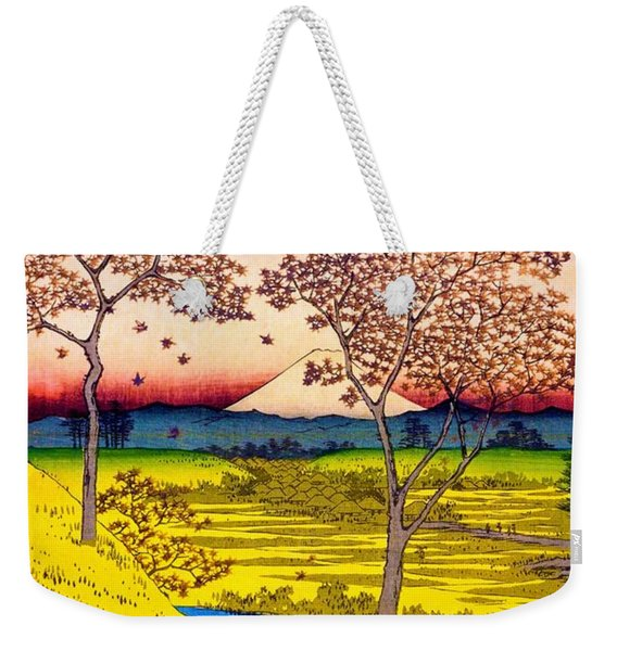 36 Views Of Mt.fuji - Yuhigaoka In The Eastern Capital - Digital Remastered Edition Weekender Tote Bag