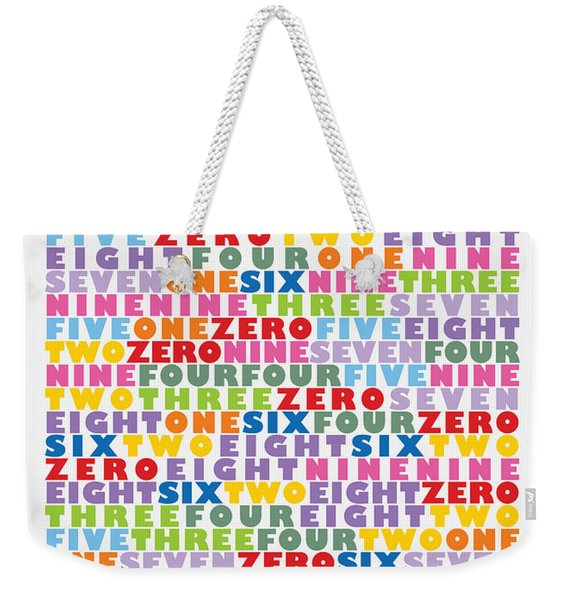 127 Digits Of Pi In English Weekender Tote Bag