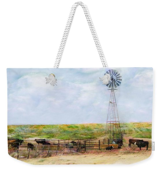Weekender Tote Bag featuring the digital art Classic Cattle  by Don Northup