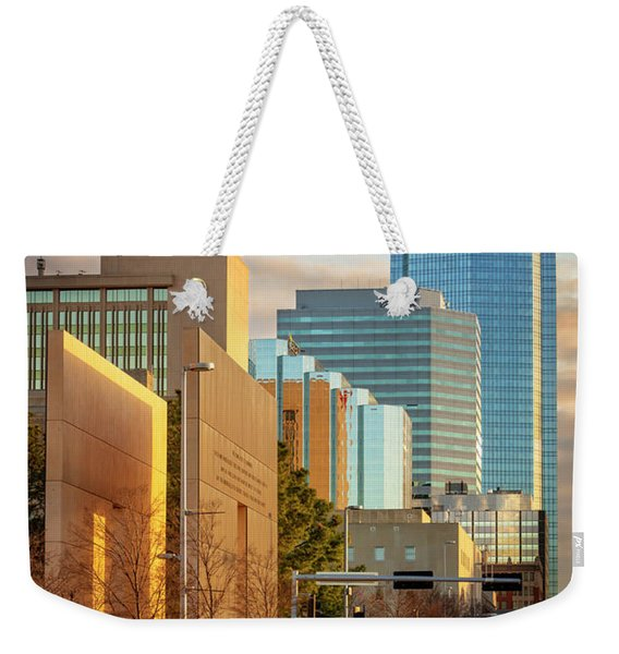 Downtown Okc Weekender Tote Bag