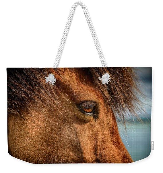 Icelandic Horse Weekender Tote Bag