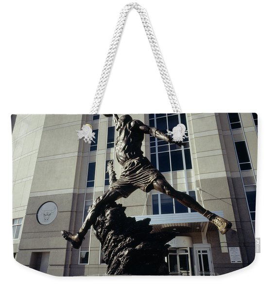 Low Angle View Of A Statue In Front Weekender Tote Bag