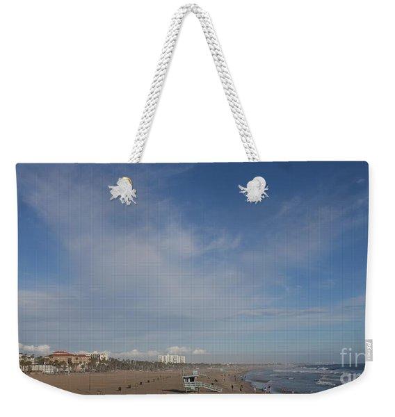 Santa Monica Beach, Santa Monica, California Weekender Tote Bag