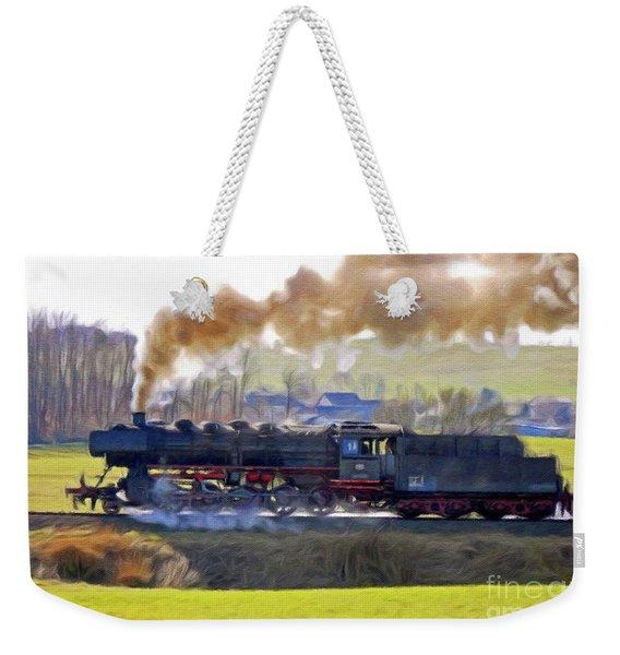 Steam Engine, Locomotive, Train Weekender Tote Bag