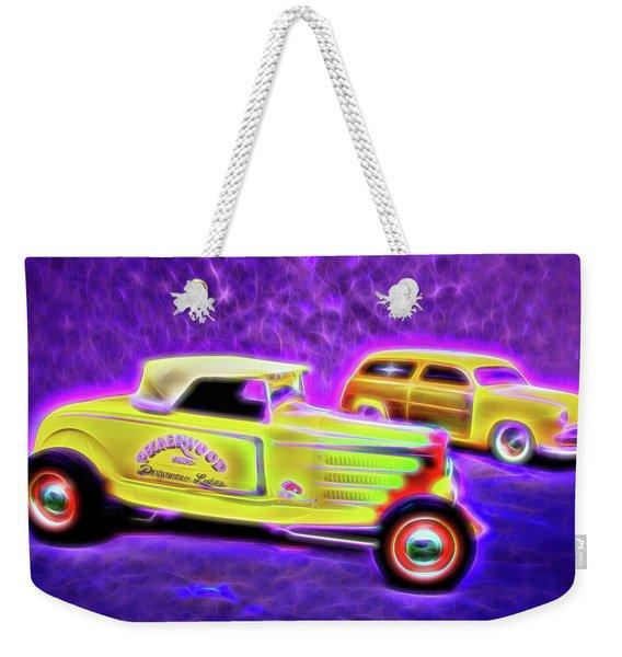 32 Roadster And 49 Woody Weekender Tote Bag
