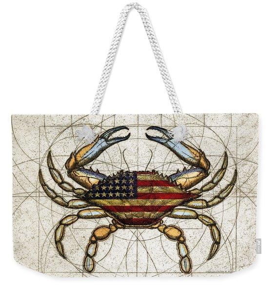 4th Of July Crab Weekender Tote Bag